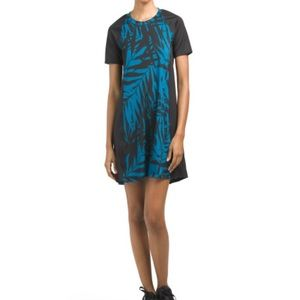 NWT K Deer diver dress palm shadow